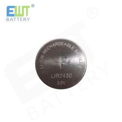 Аккумулятор Lir2430 3,6 кнопочных элементов