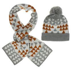 Winterwarmer Beanie-Hut und Schal für Kind-starkes Vlies-Hut-Schal-Dinosaurier-Muster-Hut-und Schal-Set