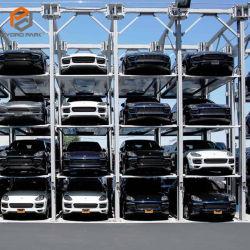 سعر رخيص وحدة تجميع 4 وضع سيارة هيدروليكية ذكية من ثلاثة مستويات مصعد موقف سيارات للبيع يمكن أن بارك 4 سيارات