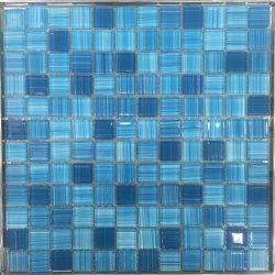 رقائق صغيرة ملونة أزرق اللون ذوبان حمام سباحة ساخن ديكور منزلى من بلاط الفسيفساء مبنى مادة فسيفساء من الزجاج الكريستالى الساطع (G423019)