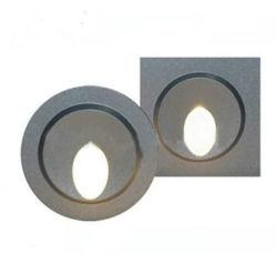 Un design modernematériau aluminium étanche IP65 1W à montage en surface l'étape de l'escalier ronde mur coin d'éclairage intérieur en extérieur de l'éclairage