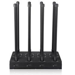 世界2gを、3G妨げる、情報処理機能をもった冷却装置が付いている最初8本のアンテナシグナルの妨害機4G、WiFi、GPSの150mまでのカバー範囲