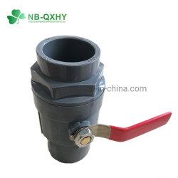 Kontaktbuchse-Kugelventil-graue Plastikkarosserie der Bewässerung-UPVC 2 PCS