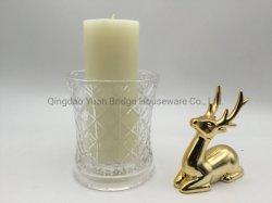 Парафин воск, белая свеча стойки проема ветрового стекла на хрустальное стекло держатель