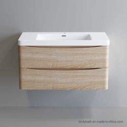 800mmのカシの壁はPolymarble盆地が付いている浴室の虚栄心の単位をハングさせた