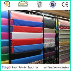 Doublure 100% Polyester Sacs Garment utilisaient Pd taffetas tissu 190T