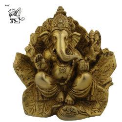 Tamanho da vida estátuas de Deus Hindu Ganesh Bronze Escultura em folha Bsg-134