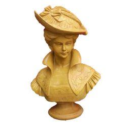 [أم] بيتيّة رئيسيّة حجارة نحت طبيعيّة رخاميّة صدر تمثال
