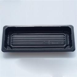 Устранимая пластмасса BOPS чернота коробки суш для суш/продуктов моря/заедк