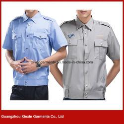 Fabbrica uniforme uniforme blu di usura del lavoro della polizia militare della protezione di obbligazione di estate dell'OEM (W535)