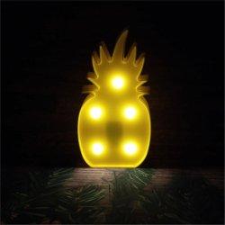 Fabricante chinês operado a bateria decoração Mesa de parede LED Abacaxi Marquee Luz noturna