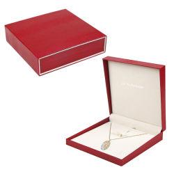Similicuir élégant cadeau Bijou collier en plastique des boîtes d'emballage de vente en gros