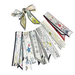 Il Doppio-Lato di serie di Tarot ha stampato la fascia capa dei piccoli del nastro della sciarpa della maniglia del sacchetto di varietà della sciarpa capelli delle ragazze