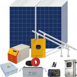 Accueil du panneau solaire produit Kit de montage de l'énergie PV hors réseau d'alimentation Onduleur de système d'alimentation solaire hybride 5kw