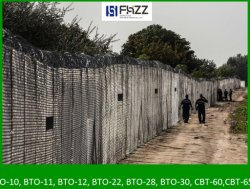 Двойной барьер на границе Hungarian-Serbian ограждения