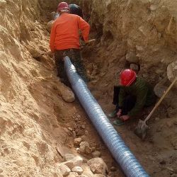 Tubo flessibile permeabile ondulato dello scolo dei soffietti del PVC per l'inzuppatore del giardino