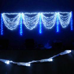 De Lichten van het openlucht Commerciële LEIDENE van de Decoratie van Kerstmis Koord van het Gordijn
