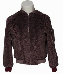 Winter-Mantel-Veloursleder-Leder-Mantel der Frauen
