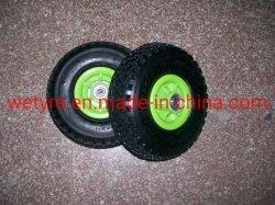 Certificat de SGS Grand Carré Sculpture Jante plastique de haute qualité à bas prix Roue en caoutchouc pneumatiques gonflables pour l'outil Panier (3.00-4)