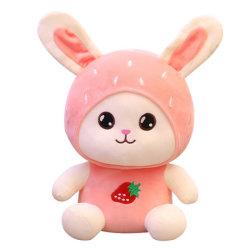 23-40cm Emb 과일과 모자를 가진 연약한 채워진 견면 벨벳 아기 장난감 만화 토끼