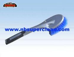 Limpiar largo mango del cepillo de plástico de lavado de autos, lavado de coches de la rueda de coche cepillo cepillo con mango largo (nc1837)