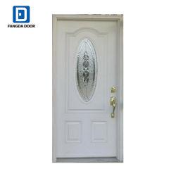 Fangda inserts de verre de porte en acier de métal