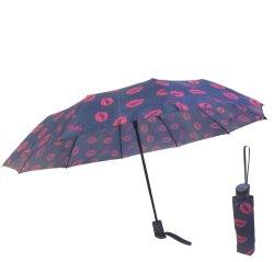 Lèvres Parasol Mesdames Simple Solid Color parapluies de pliage de la pluie de petites marchandises à double usage Fresh