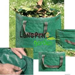 Jardim Leaf Saco com barra reforçadas de plástico (para manter o saco aberto)