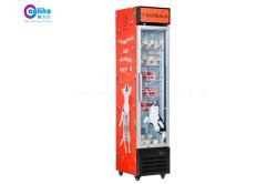 D'éclairage LED Hot Slim Line debout commerciale congélateur avec des affiches en option