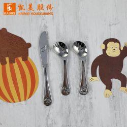 Зеркало заднего вида поверхности вилки из нержавеющей стали/ложкой/нож кухонные приспособления пластических масс Набор столовых приборов