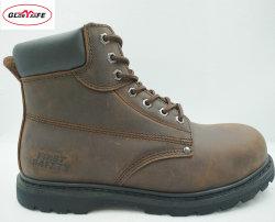 고품질 Goodyear 고무 발바닥을%s 가진 가죽 안전 일 신발 중국제