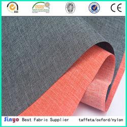 Vlas-als de linnen-Gelijkaardige Stof van de Polyester van de Deklaag van Pu 600d voor de Bank van Kussens