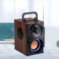 4 in Nieuwe Houten Spreker Bluetooth met LEIDEN Licht