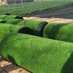 Применение нескольких искусственных травяных коврик для украшения сада и ландшафт