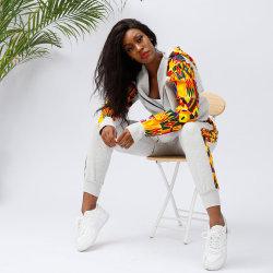 Custom плюс размер теплой Sportsuit женщин 2 частей установки африканских повседневной печати Sweatsuit 2020 для женщин