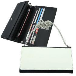 새로운 디자인 승화 PU 가죽 어깨에 매는 가방 사슬 지갑