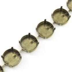 Stevige Rug van de Ketting van de Kop van Rivoli de Lege zonder Bergkristallen voor Halsband/Schoen/Juwelen/Kleding