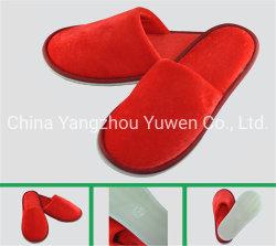 Tissu de velours de femmes pantoufles avec semelles Environment-Friendly pantoufles