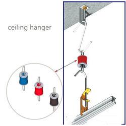 Gancio acustico della molla del soffitto di goccia del gancio di isolamento del suono del soffitto