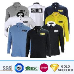 Gros en Chine La conception personnalisée de la sublimation imprimé respirant Sport confortable Polo Shirt Long Sleeve Fashion Plain hommes garçons T-shirt col rond
