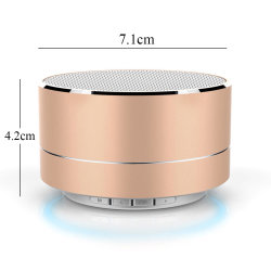 Um alto-falante Bluetooth Metal10 com microfone portátil Super Mini Subwoofer Bass Alto-falante estéreo