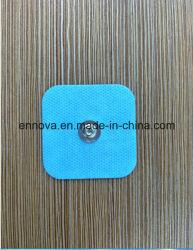 青い布の10の電極のパッド