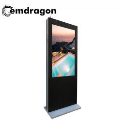 La publicidad digital pantallas multitáctil de 55 pulgadas Wind-Cooled aterrizaje vertical en la pantalla Panel PC de la máquina de publicidad exterior