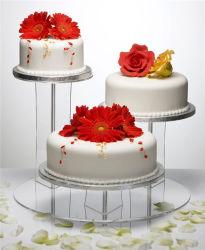 En acrylique transparent 3 Stand d'affichage de niveau gâteau de mariage
