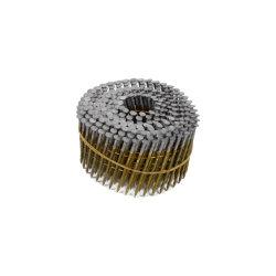 Cabeça arredondada para o parafuso do Tipo Liso Shank, brilhante, 15 grau tapume intercaladas haste da bobina de fios