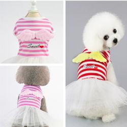 إمداد تموين [بوبّي] ملاكة أحمر شريط ثوب كلب [ت-شيرت] يلبّي محبوب مظهر منتوج