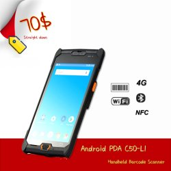 IP Industrial67 4G WiFi Bluetooth 5.0 Portátil de ecrã táctil PDA Android (C50L)