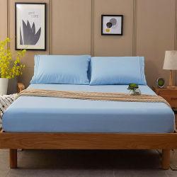 Bettwäsche 200tc Plain färbte Baumwollbett-Blatt 100% einstellte Baumwolle 100%