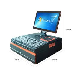 Composxb 상점 J1900 DDR3 4G POS를 위한 1 POS 컴퓨터 PC에서 15.6 인치 출납원 기록기 전부