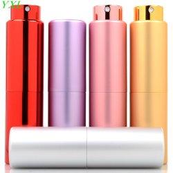 15ml 20ml Perfume de tubo de aluminio color frasco atomizador con revestimiento de vidrio envases cosméticos vacía Pulverizador de perfume portátil